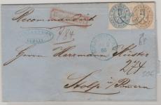 Nrn.: 17 + 18 als MiF auf Einschreiben Fernbrief von Berlin nach Stolp, tiefgeprüft Flemming BPP