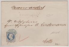 Nr. 24 als EF auf Einschreiben- Fernbrief von Hamburg nach Celle