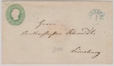 2 Groschen GS- Umschlag, verwendet als Fernbrief von Hannover nach Lüneburg