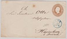 3 Groschen GS- Umschlag verwendet als Fernbrief von Stade nach Hainsberg, (mit gutem Vorphila- Stade Stempel)