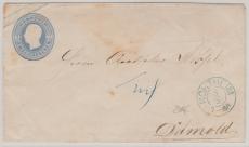 2 Groschen GS- Umschlag verwendet als Fernbrief von Northeim nach Detmold
