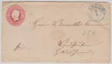 1 Groschen GS- Umschlag, verwendet als Fernbrief von Grasdorf (= seltene Abstempelung!) nach Hildesheim