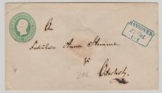 1 Groschen GS- Umschlag, verwendet als Fernbrief von Hannover (besserer Vorphila- Stempel!) nach Osterholz