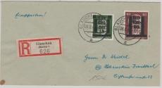 Glauchau, 4 + 17 zusammen auf E.- Brief