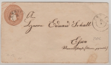 5 Sh.- GS- Umschlag, gebraucht als Fernbrief von Gnoien nach Elsen (?)