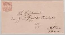 Nr. 5 als EF auf Briefvorderseite von Schwerin nach Meteln bei Kleinen