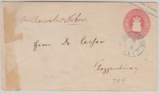 1 Gr.- GS- Umschlag, verwendet als Fernbrief von Oldenburg nach Cloppenburg