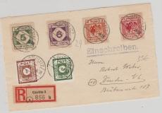 Görlitz Nrn.: 13- 16 u.a. auf E.- Brief Vorderseite