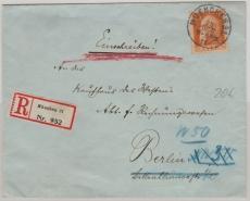 Nr.: 99 I, als EF auf Einschreiben- Fernbrief von München nach Berlin, innerhalb Berlins nachgesendet!