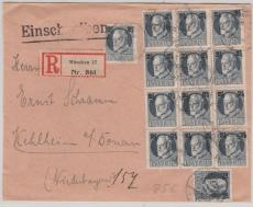 Nr.: 111 A (14x) als reine MeF auf Einschreiben- Fernbrief von München nach Kelheim