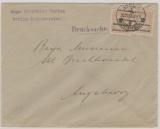 326 A (2x) auf Drucksachen- Fernbrief von Berlin nach Augsburg, v. 30.11.1923, Letzttag der Inflation!