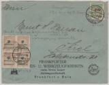 326 BP (4x) u.a. auf Fernbrief von FFM nach Kiel