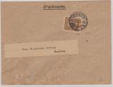 323 B als EF auf Drucksachen- Fernbrief von Essen nach Hamburg, geprüft Infla Berlin