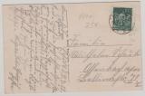 170 als EF auf Fern- Postkarte von Arnstadt nach Offenburg, geprüft Infla Berlin