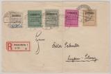 Braunschweig, Nr.: II kpl. Satz verwendet auf Auslands- Einschreiben von Braunschweig nach Luzern (CH)