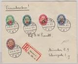 430- 434 auf Orts- Satzbrief- Einschreiben innerhalb Münchens