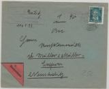 392 als EF verwendet auf NN- Fernbrief von Neubrandenburg nach Neustrelitz