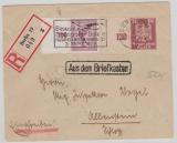 359 X + A 379 als MIF auf Einschreiben- Fernbrief von Berlin nach Allenstein, mit Kastenstempel Aus dem Briefkasten
