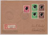E.- Brief Durch Deutsche Dienstpost Adria, von Fiume, 4.3.44, nach Schönebeck, mit DR.- Innendienst Frankatur