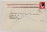 Brief Durch Deutsche Dienstpost Alpenvorland, von Meran, 29.12.43, nach München, mit 12 Pfg. Hitler