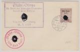 B + M. Mährisch Ostrau Nr.: 31 auf ungelaufenem Brief mit 2 Propagandastempeln