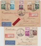 Elsass, 1- 16 (je vom OR! Kompletter Satz!) auf 4 Lupo- Einschreiben- Eilboten- Briefen von Strassburg nach Berlin