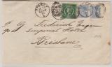 Australien, New South Wales, 1891, schöne MiF von Sydney nach Brisbane