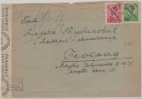 Dt. Bes. Jugoslavien, Serbien, Nrn.: 3+ 5, als MiF, gelaufen auf Brief nach Belgrad, mit Zensur