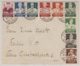 558- 564, kpl. Satz als MiF auf Ortsbrief innerhalb Berlins