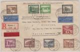 634- 42 in MiF auf Satz- Eilboten- Einschreiben- Lupo Auslandsbrief, von Dresden nach Paris