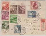 675- 83 in MiF auf Satz- Einschreiben- Auslandsbrief in die CSR