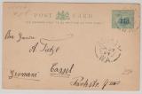 Australien, West Australien, 1891, Gs mit Überdruck gelaufen nach Kassel!