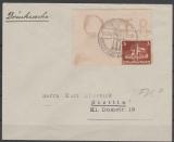 576- 579, je als EF auf 3 Briefen und 1 Karte, je mit Blockrand und OSTROPA- Stempel Königsberg v. 23.6.35 = FDC!