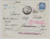 471 als EF + rs. mit Nachgebührmarken, auf Auslandbrief von Berlin nach Bandong / Java + Nachsendung