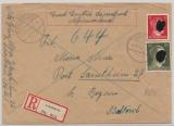 Enschreiben- Fernrief Durch Deutsche Dienstpost Alpenvorland, von Schaftlach, 29.12.43, nach Bozen, mit 12 Pfg. + 30 Pfg. Hitler