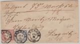 19 + 20 in MiF verwendet auf Wert- Fernbrief von Neurode Liegnitz, vom 17.1.1875