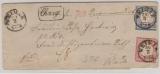 19 + 20 als MiF auf Charge- Fernbrief von Weimar nach Weida