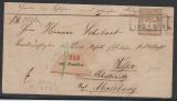 Nr. 6, als EF auf Paketbegleitbrief von Domslau nach Merseburg