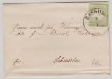 Nr. 17 als EF auf Fernbrief von Bassum nach Schwerin