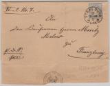 Nr.: 20 als EF auf Fernbrief von Stralsund nach Franzburg, vom 23.9.1875! Mit Hufeisenstempel Stralsund