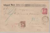Nrn.: 41 + 43 als MiF auf Wert- Fernbrief von Pritzier nach Schwerin