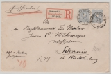 Nr.: 42 (2x) als MeF auf Eischreiben- Fernbrief von Stralsund nach Schwerin