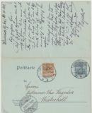 Antwort- GS P66 (DR!), 1 Karte mit Nr. 45 und 1 Karte mit Nr. 54 zusammenhängend gelaufen, tiefgeprüft Jäschke- L. BPP