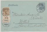 2Pfg.- GS (DR) + 69 OR alz Zusatzfrankatur als Postkarte von Johnsdorf nach Zittau