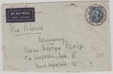 China, ca. 1940, 25 Cent EF, auf Brief via Sibirien nach D. (interessante Anschrift, ohne Ort!)
