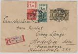 63II (2x), 38 I OR + 42II OR, in MiF auf Einschreiben- Fernbrief von Duisburg nach Anderten, rs. mit Ankunftsstempel