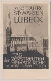 Nr.: 139 auf Maximumkarte, rs. mit Bild der Marienkirche Lübeck