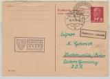 20 Pfg. Pieck- Antwort GS, Antwort- Teil, gelaufen von Lugano (CH) nach Luckenwalde