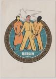Nrn.: 284 + 285, auf DDR- Propagandakarte zu den Weltfestspielen der Jugend 1951