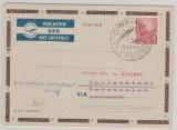20 Pfg. Aerogramm- Umschlag, PF1b (?), verwendet von Berlin nach Österreich und von da nach Heidenoldendorf (?!)